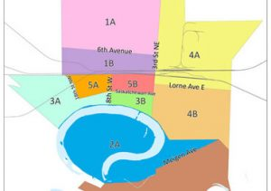 picture of map of City of Portage la Prairie garbage zones