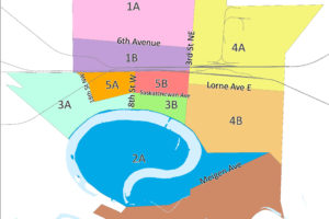 Picture of a map outlining the City of Portage la Prairie Garbage Zones