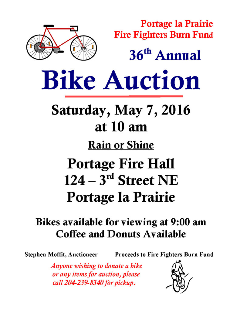 Bike Auction Poster 2016