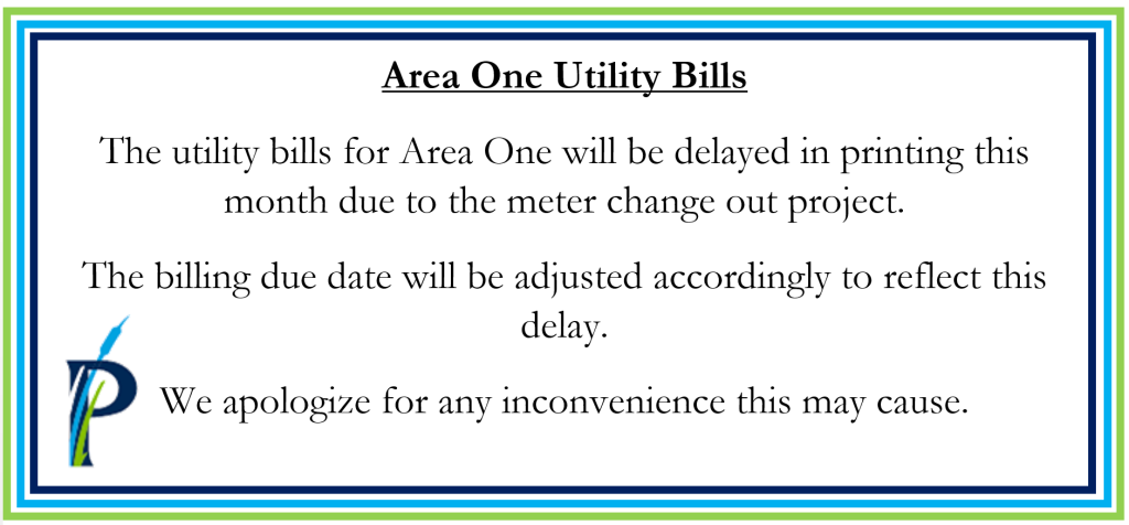 Water Bills Area 1