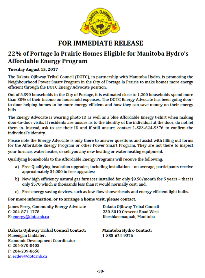 DOTC Press Release